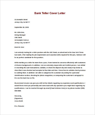 How To Write A Cover Letter Asking For A Job