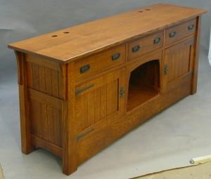 Retro Wood Aquarium Stand